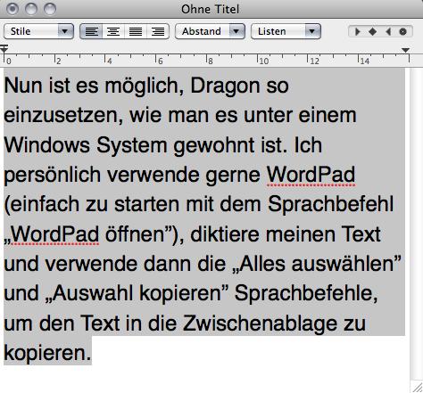 Dragon Sprachbefehle