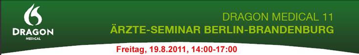 Dragon Medical Ärzte-Seminar Berlin Brandenburg Spracherkennung